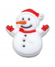 10 Schiacciate silicone rosse 12 x 7mm