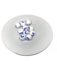 20 Perline Rosse sfaccettate 10 mm