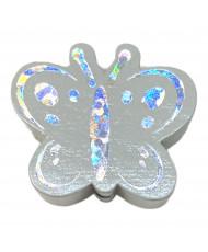20 Perline acrilico 8mm rosso corallo glitter