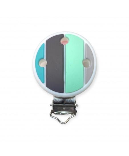 10 Schiacciate silicone grigio scuro 12 x 7mm