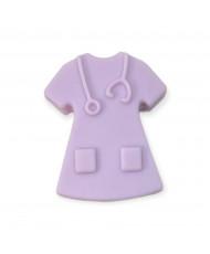 5 Perline silicone Azzurro Fiordaliso 12 mm