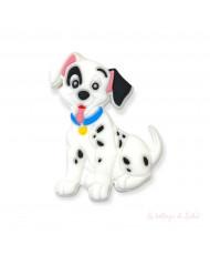 Clip Farfalla Glitter Bianca